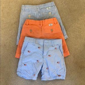 3 shorts